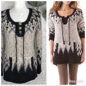 Free People Love Bug Chunky Knit Oversized Sweater